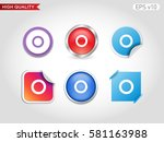 circle icon. button with circle ... | Shutterstock .eps vector #581163988