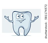 tooth  cartoon characters ... | Shutterstock .eps vector #581174572