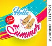 summer vector element  summer... | Shutterstock .eps vector #581174905