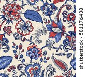 seamless pattern with fantasy... | Shutterstock .eps vector #581176438