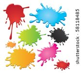 color stains | Shutterstock .eps vector #58118485