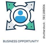 business opportunity vector... | Shutterstock .eps vector #581188006