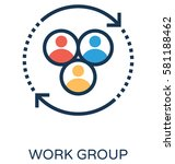 work group vector icon  | Shutterstock .eps vector #581188462