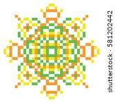 Vector Pixel Oriental Green...