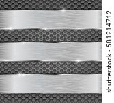metal perforated background... | Shutterstock .eps vector #581214712