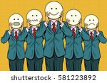 vintage set of smiley face... | Shutterstock .eps vector #581223892