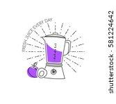 blender line icon. vector... | Shutterstock .eps vector #581224642