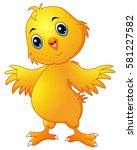 cute chicken cartoon | Shutterstock . vector #581227582