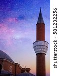 mosque over the sky with manny... | Shutterstock . vector #581232256