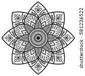 mandala. coloring book pages.... | Shutterstock .eps vector #581236522
