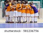 indoor football soccer match... | Shutterstock . vector #581236756
