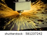 cnc laser cutting of metal ... | Shutterstock . vector #581237242