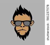 Fashion Monkey Face With Black...