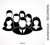 people icon   men   women vector | Shutterstock .eps vector #581244646