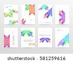 memphis geometric background... | Shutterstock .eps vector #581259616
