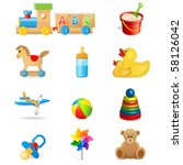 Toy Icons   Vector Illustration