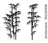 bamboo illustration.  design... | Shutterstock .eps vector #581263408