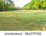 beautiful public green park  ... | Shutterstock . vector #581279782
