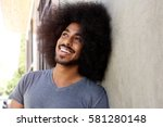 close up portrait of happy... | Shutterstock . vector #581280148