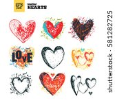 collection pack of vector... | Shutterstock .eps vector #581282725