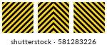 set warning striped rectangular ...   Shutterstock .eps vector #581283226