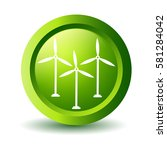 green wind turbine  label | Shutterstock . vector #581284042