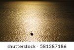 Silhouette Of Fisherman Boat...