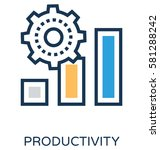 productivity vector icon | Shutterstock .eps vector #581288242
