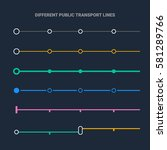 different public transport lines | Shutterstock .eps vector #581289766