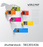 vector world map template with... | Shutterstock .eps vector #581301436