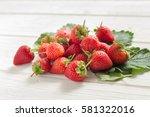 Fresh Strawberries On White...