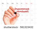 insurance renewal reminder in... | Shutterstock . vector #581323432