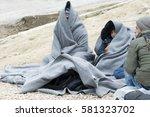 moria  lesvos  greece  24... | Shutterstock . vector #581323702