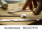 surgical instruments in the... | Shutterstock . vector #581327575