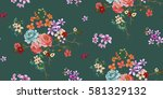 seamless floral pattern in... | Shutterstock .eps vector #581329132