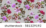 seamless floral pattern in... | Shutterstock .eps vector #581329192