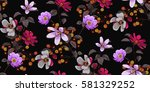 seamless floral pattern in... | Shutterstock .eps vector #581329252