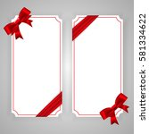 vertical template banner with...   Shutterstock .eps vector #581334622
