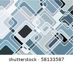 abstract geometric mosaic... | Shutterstock .eps vector #58133587