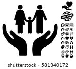 family care hands pictograph... | Shutterstock .eps vector #581340172