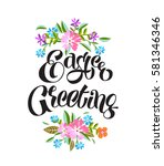 vector illustration easter... | Shutterstock .eps vector #581346346
