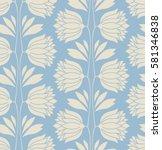 seamless floral vintage pattern | Shutterstock .eps vector #581346838