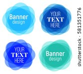 set of vector colorful round... | Shutterstock .eps vector #581351776