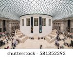Small photo of LONDON, UK - 12 JULY, 2016: Tourists in the Great Court at the British Museum. Museum was designed by architect Lord Norman Foster, opened in year 2000.