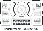 user interface hud and... | Shutterstock .eps vector #581354782