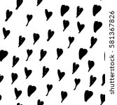 seamless pattern with hearts ... | Shutterstock .eps vector #581367826