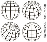 set globe  the technical...   Shutterstock .eps vector #581371438