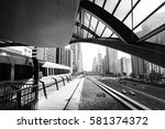 view of the streets of dubai... | Shutterstock . vector #581374372