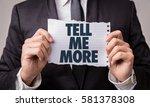 tell me more | Shutterstock . vector #581378308