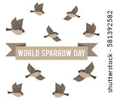 World Sparrow Day. Vector...